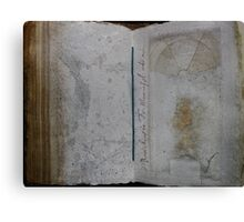 Book of Stone Canvas Print