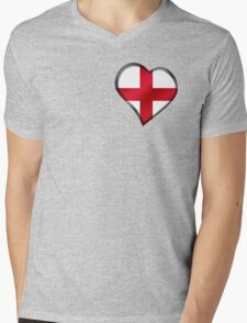 English Flag - England - Heart T-Shirt