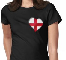 English Flag - England - Heart Womens Fitted T-Shirt