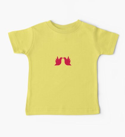 Love Doves Red Baby Tee