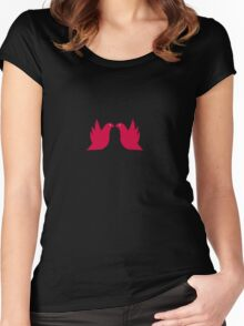 Love Doves Red Women's Fitted Scoop T-Shirt