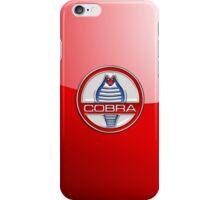 Shelby Cobra - Original 3D Badge on Red iPhone Case/Skin