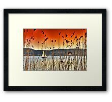 Sailng at Kastoria Lake (Makedonia, Greece) Framed Print