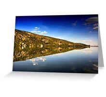 mirror mountain in Kastoria Lake (Makedonia, Greece) Greeting Card
