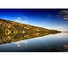 mirror mountain in Kastoria Lake (Makedonia, Greece) Photographic Print