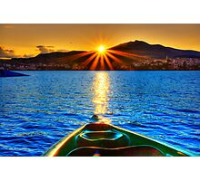 Canoe & Cayak through the Sun Photographic Print