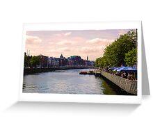 Irish delight in Dublin city Greeting Card