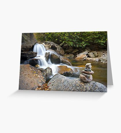 Harmony - WNC Flowing Waterfall Landscape Greeting Card