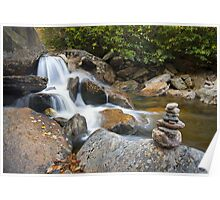 Harmony - WNC Flowing Waterfall Landscape Poster