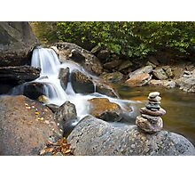 Harmony - WNC Flowing Waterfall Landscape Photographic Print
