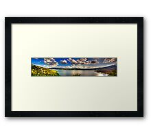 Panoramic view of Kastoria city. (Makedonia, Greece) Framed Print
