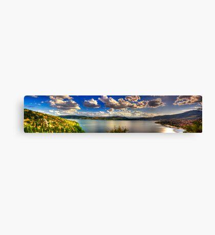 Panoramic view of Kastoria city. (Makedonia, Greece) Canvas Print