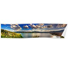 Panoramic view of Kastoria city. (Makedonia, Greece) Poster