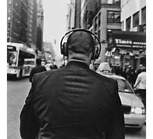 Headphones Stalking Photographic Print