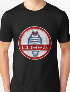 Shelby Cobra - Original 3D Badge on Black T-Shirt