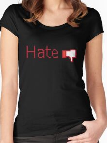 Hate Button  Women's Fitted Scoop T-Shirt