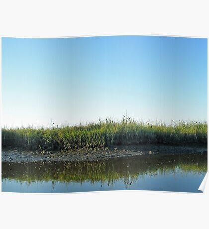 Low Tide in the Tidal Creek Poster