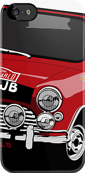 'Paddy Hopkirk 37' Mini Cooper Rally Car I-Phone Cover by Twain Forsythe