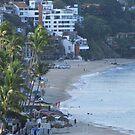 Olas Altas Beach in Puerto Vallarta in the early morning by PtoVallartaMex
