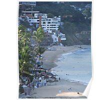Olas Altas Beach in Puerto Vallarta in the early morning Poster