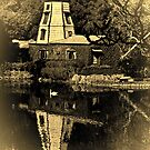 Lake Shrine windmill by Celeste Mookherjee