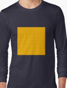 Squares - Red + Yellow Border Long Sleeve T-Shirt