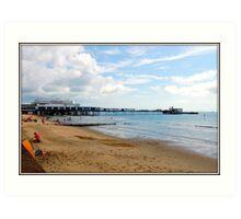 Beside the seaside. Isle of Wight. UK. Art Print
