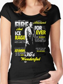 Fire and Ice and Rage  Women's Fitted Scoop T-Shirt