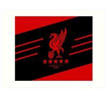 Liverpool Liver Bird Red Black Art Print