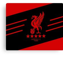 Liverpool Liver Bird Red Black Canvas Print