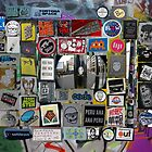 street art in London city - sticker wall  by mariette sardin