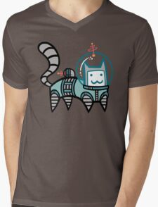 Astro Cat Mens V-Neck T-Shirt