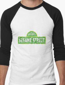 Occupy Sesame Street Men's Baseball ¾ T-Shirt