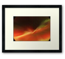 Multi-colored Aurora Borealis Framed Print
