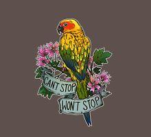 Can't Stop; Won't Stop (sun conure) Unisex T-Shirt