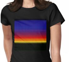 Vaporwave-Sunset Skyline Womens Fitted T-Shirt