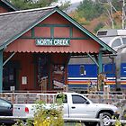North Creek Railroad Station by John Schneider