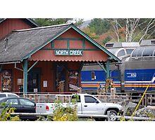 North Creek Railroad Station Photographic Print