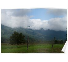LOW MOUNTAIN CLOUDS Poster