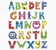 Alphabet Monsters Kids Tee