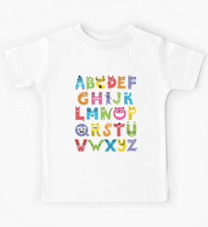 Alphabet Monsters Kids Clothes