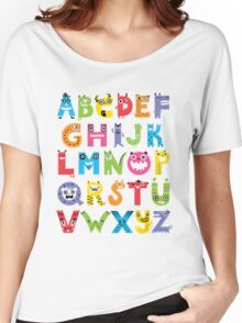 Alphabet Monsters Women's Relaxed Fit T-Shirt