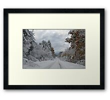October Snow in New England Framed Print