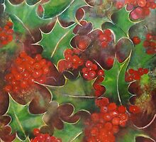 Christmas Holly by Cathy Gilday