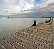 My daughter contemplates by Paul Wratislaw