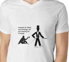 Hoping for change Mens V-Neck T-Shirt