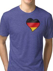 German Flag - Germany - Heart Tri-blend T-Shirt