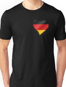 German Flag - Germany - Heart Unisex T-Shirt
