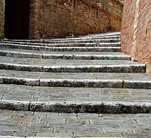 Steps in Siena, Italy by gigigriffis