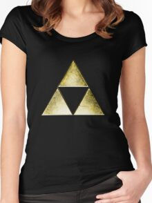Force of three, golden version Women's Fitted Scoop T-Shirt